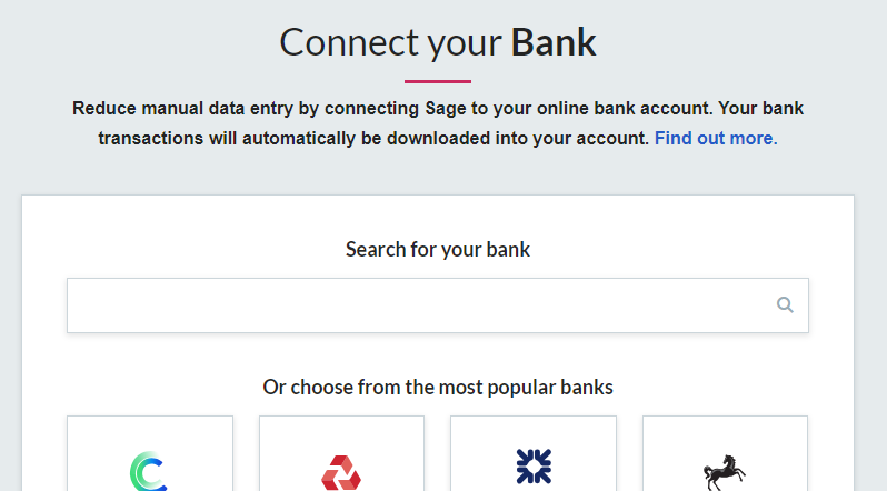 Bank feeds - Supported banks and credit card companies